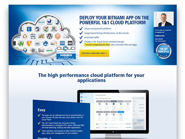Register with 1&1 Cloud Platform