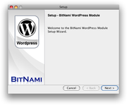 Wordpress bitnami screenshot mac