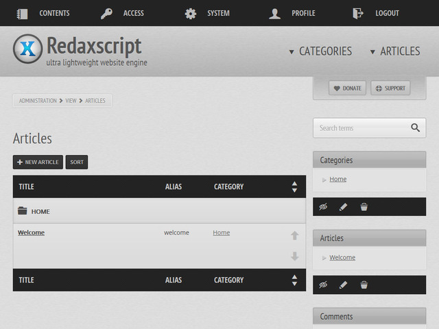 05_redaxscript_articles_list
