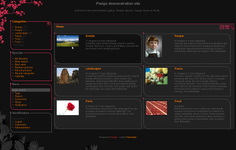 Piwigo dashboard